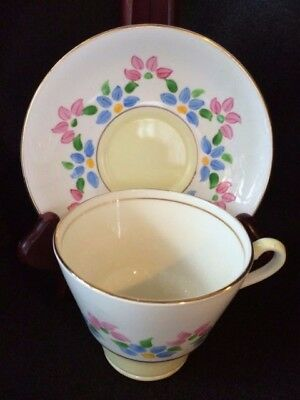 Vintage Staffordshire House Bone China Cup & Saucer