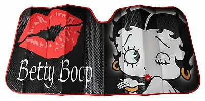 Plasticolor 003716R01 Betty Boop Timeless Black Windshield Sunshade New