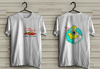 New vtg Simpson bootleg vintage t-shirt made for crew alone RARE US all size
