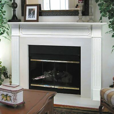 For Electric Fireplace Heater Wood Mantel Surround Elegant Frame Panel Classic