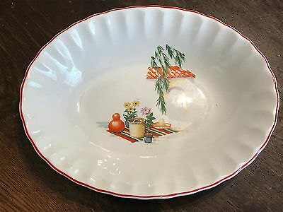 """Excellent 1940s 50s W.S George BOLERO GRACIA Mexican China 9.5"""" Vegetable Bowl"""