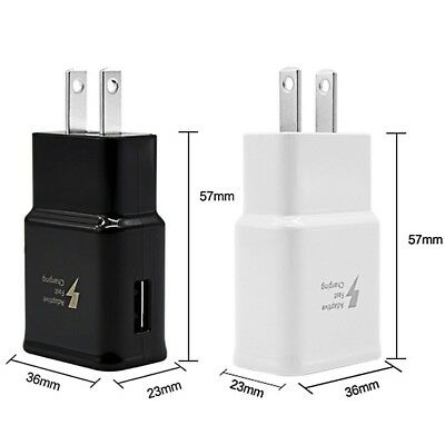 Lot : 100 Fast Adaptive Wall Charger Rapid  Adapter for Samsung galaxy s7/s8/s8+