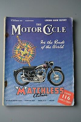 R&L Mag: Motor Cycle 18 Nov 1954 London Show Special Packed Edition British Bike