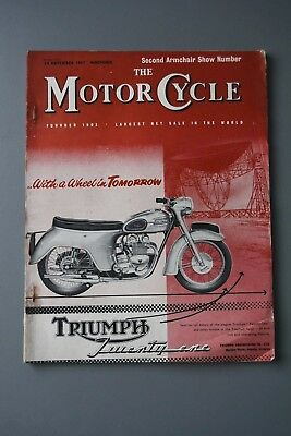 R&L Mag: Motor Cycle 28 Nov 1957 Moped, Sidecar & 3 Wheeler Review Show Edition