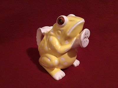 "Vintage ""Frog"" Mann Japan Ceramic Yellow White Garden Water Lily Plant Sprinkler"
