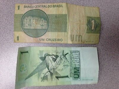 1 Cruzeiro, 1 Real - Currency from Brazil - 1975, Present
