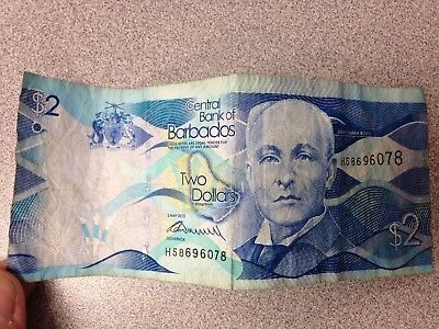 $2 Central Bank of Barbados - Currency from Barbados - 2013 - Windmill