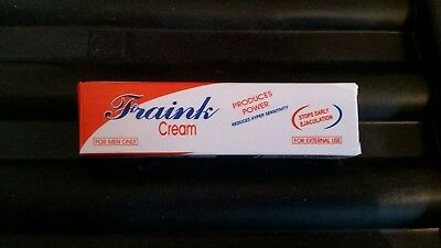 Fraink Cream STOP Early ejaculation delay longer powerful sex time 4ml no PILLS.