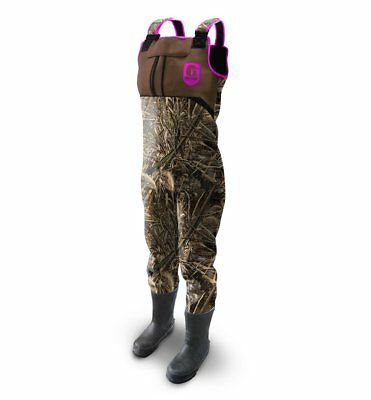 Gator Waders Neoprene Womens  Throttle Camo/pink 8 Med Part # Gwwtcp8M