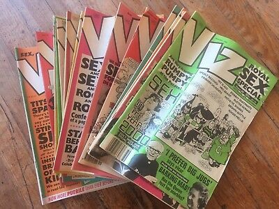 VIZ comic UK Adult Politically Incorrect Humor RARE 1989, 1990, 1991, 1992, 1993