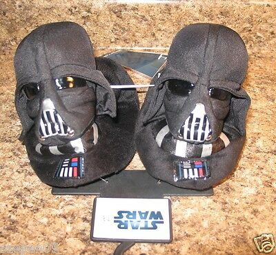 Boys Slippers Toddler Size  7 8 Star Wars Darth Vader New With Tags