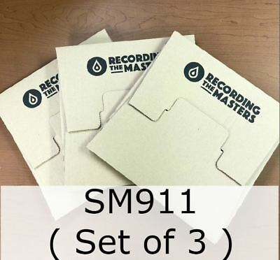 """LOT of 3 RTM SM911 High Output Studio Archive Tape 1/4"""" 2500ft 10.5"""" on Hub"""