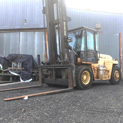 1996 HYSTER 25,900LB Forklift Enclosed Cab, Dual Tire, LPG Chevy, H280XL
