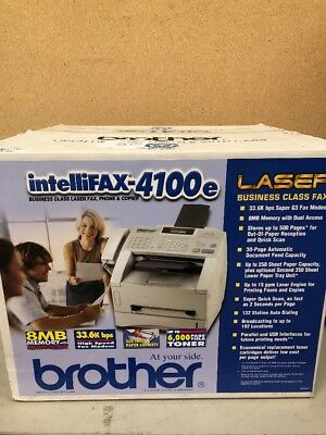 Brother Intellifax-4100e Laser Fax Machine, Phone and Copier Printer - New!
