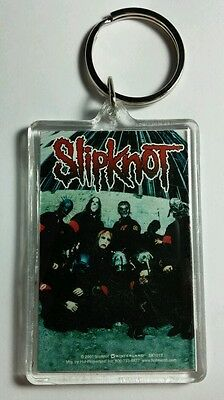 As-Is Slipknot Group Band Photo Blue Paint  Music '01 Vtg Key Chain Keychain