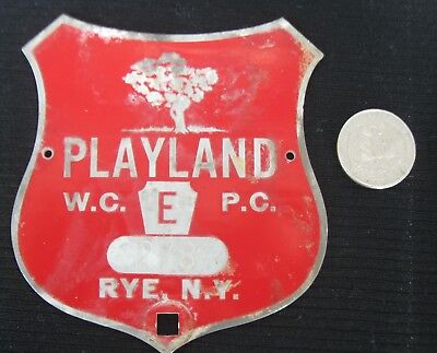 License Plate Topper From Playland Rye, Ny Westchester County
