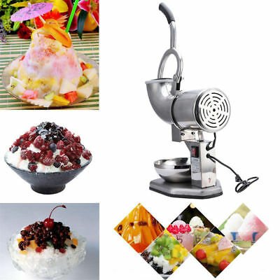 110V 300W Electric Ice Shaver Machine Snow Cone Maker Crusher Shaving Cold Drink