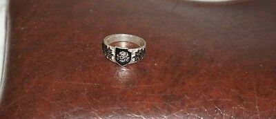 800 Silver Ring WW2 German Army 3. Panzer Division Military Ring 21 mm