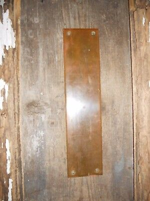 Vtg Large Nicely Aged Patina Brass Steampunk Old Door Knob Push Back Plate