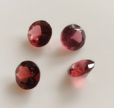 4 Pc Round Cut Shape Natural Garnet 5.2Mm To 5.4Mm Loose Gemstones