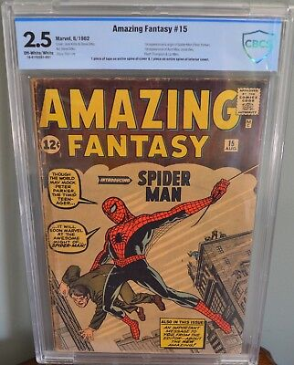 Amazing Fantasy #15 (1962, Marvel) CBCS 2.5 Holy Grail 1st Spider-Man Appearance