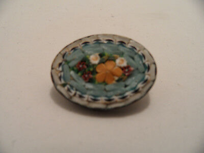 """Vintage Micro Mosaic Made In Italy Flower Brooch 1"""""""