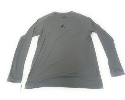 Air Jordan All Season Dri Fit Gray Mens Long Sleeve Shirt Size Xl