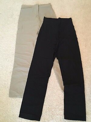 2 prs NOPPIES Maternity pants, size S, 1 black, 1 tan stretch *comfort &support