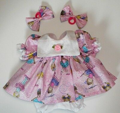 "Cabbage Patch Doll Clothes: Fit 16""doll:pink/glitter/ballerina Dress Set-4Pc"