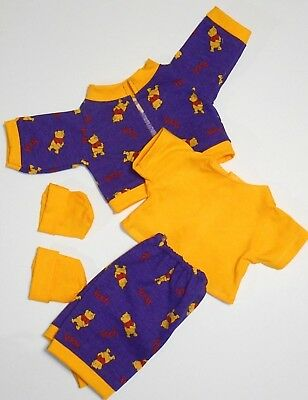 "Cabbage Patch Doll Clothes: Fit 16""doll:winnie The Pooh,pant Set- 5 Pc"