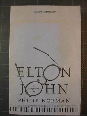 """""""Elton John"""" uncorrected proof by Philip Norman softcover 1991"""