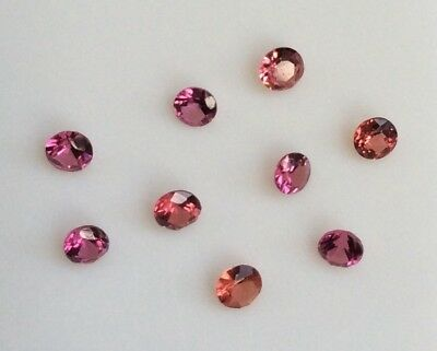 3 Pc Round Cut Shape Natural Light Pink Garnet 2.25Mm Loose Gemstones