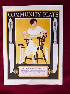 1924 LHJ COMMUNITY PLATE - FADEAWAY GIRL by COLES PHILLIPS