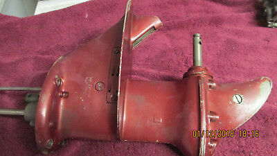 1957 Johnson Sea Horse 7.5-7 1/2 hp Lower Unit/Gearcase - Good Used - FREE SHIP!