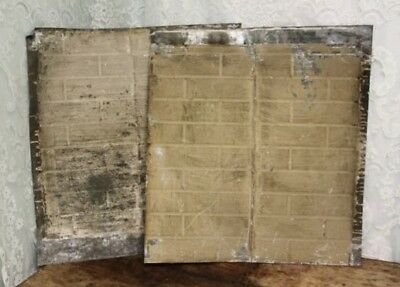 "Pair of Antique Salvaged Shabby Chic Tin Ceiling Tiles 25 3/4"" X 28""  # 1 & 2"