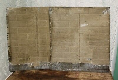 "Pair of Antique Salvaged Shabby Chic Tin Ceiling Tiles 25 3/4"" X 28""  # 3 & 4"