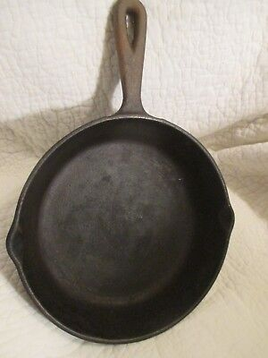 Vintage Black Cast Iron Skillet