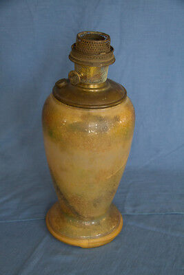 Aladdin Model 12 1240 Large Vase Variegated Verde Kerosene Lamp with burner