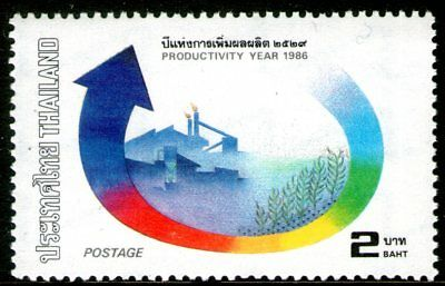 Thailand 1986 2Bt Productivity Year Mint Unhinged