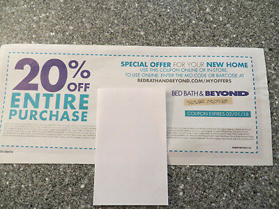 Bed Bath & Beyond 20% off entire purchase EXP 2/1/2018 online OR in-store
