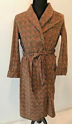 Vintage St Moritz Green and Red Paisley Lightweight Mens Robe size L 44-46 S7