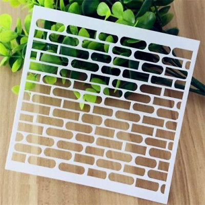 Brick Pattern Layering Stencil Template DIY Scrapbooking Home Decorate Gift