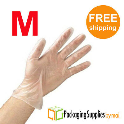 30000 Polyethylene Clear Food Service Disposable Gloves Industrial Grade Medium