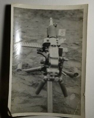 5x7 ORIGINAL WW2 PHOTO JAPANESE MACHINE GUN ALEUTIAN ISLANDS 13E