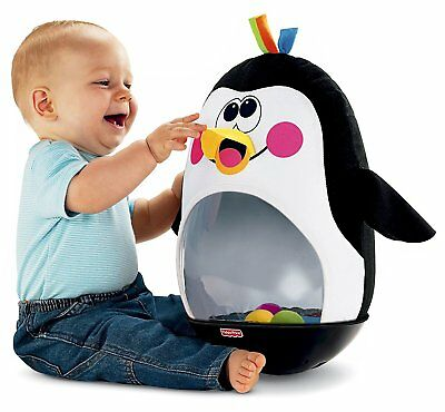 Fisher-Price BAT & WOBBLE PENGUIN Bounce Back Action & Musical Fun Baby Toy