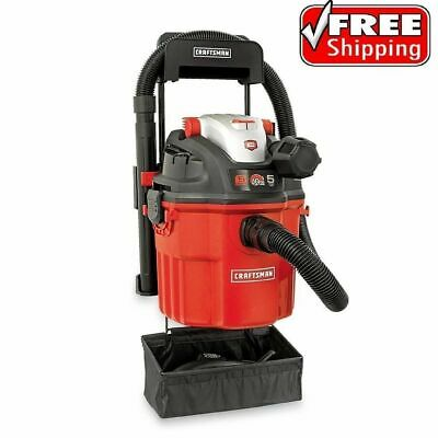 Craftsman Wet Dry Vac 5 Gallon Vacuum 5.0 HP Peak Remote Control Wall Mount