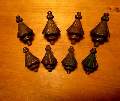 Vintage Early Victorian MCCC R&E Cast Bronze Door Hinge Finials Hardware