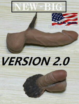 "2 x 1/6 Male Genitals Penis EXTRA LARGE For 12"" PHICEN TBLeague Action Figure"