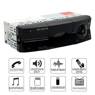 1 Din Bluetooth Car Stereo MP3 Audio Player FM Radio AUX SD U Disk with Remote