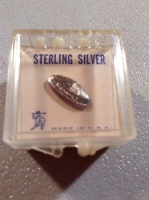 Vintage Sterling Silver Houston Astrodome Tac Pin In Orig Package